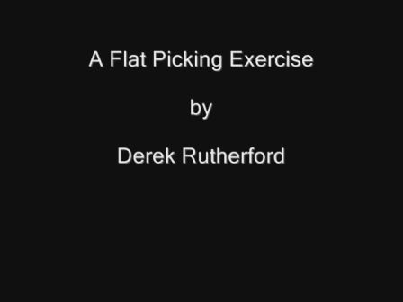 Flatpicking Exercise to improve RH