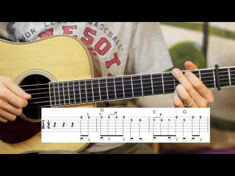 Cripple Creek Flatpicking Guitar Lesson- Bluegrass- Intermediate