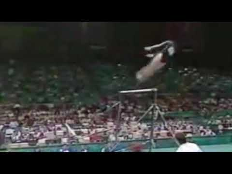 Lilia Podkopayeva - 1996 Olympics AA - Uneven Bars Slow-motion