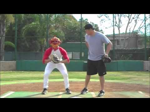 Domingo Ayala Catching with Hank Conger