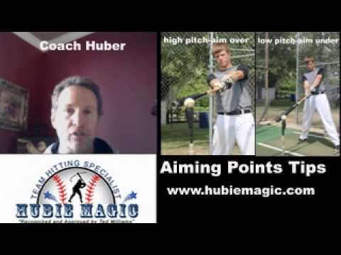 BIG tips on how to hit high and low pitches! Aiming Point Drills!