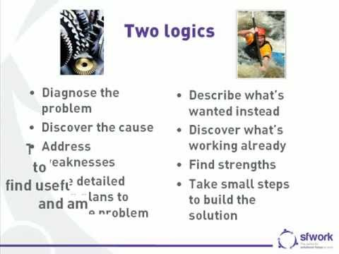 The two logics of problem solving and solution-building