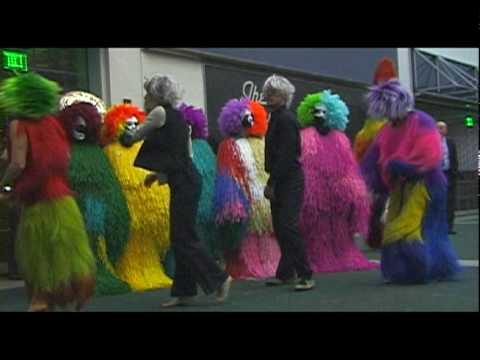 Nick Cave Soundsuit Invasion at LA Art Show, courtesy Fowler Museum