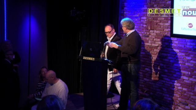 Jan van Betten van Nudge spreekt op het Zevende Nederlands MediaNetwerk Event over duurzaamheid