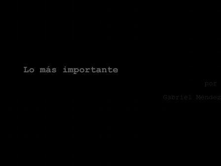 Lo más importante