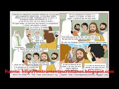 VIDEO HOJITA EVANGELIO NIÑOS DOMINGO XXVII TO B II