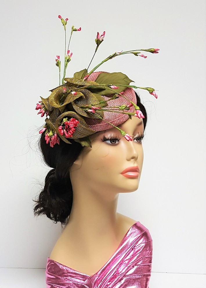 Olive and Rose Lily Cocktail Hat