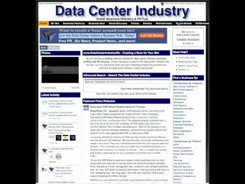 The Data Center Industry Business Directory & PR Hub - An Introduction