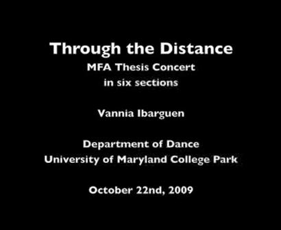 """""""A la Distancia"""" por Vannia Ibarguen"""