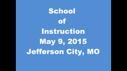 School of Instruction May 2015