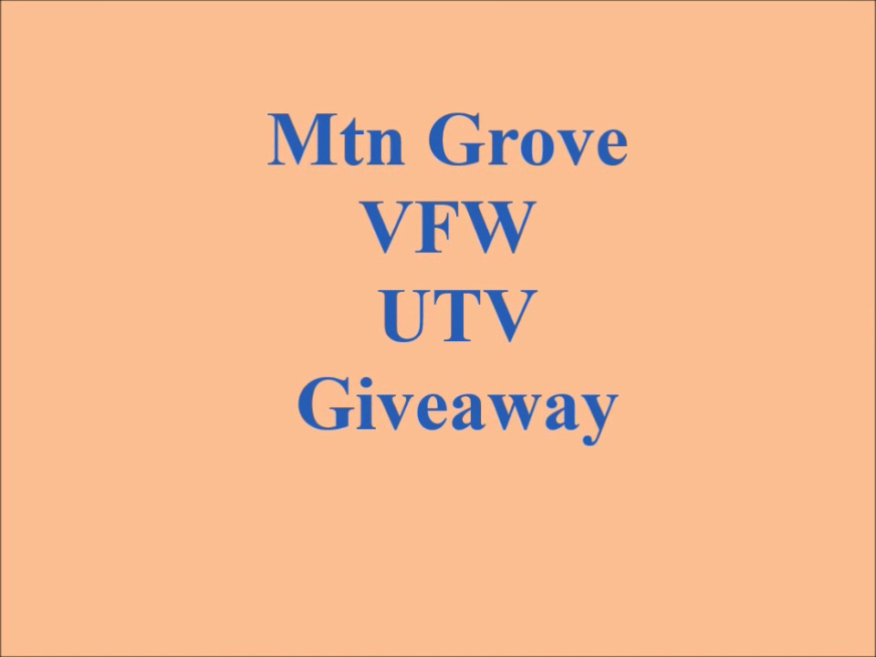 UTV Raffle Drawing