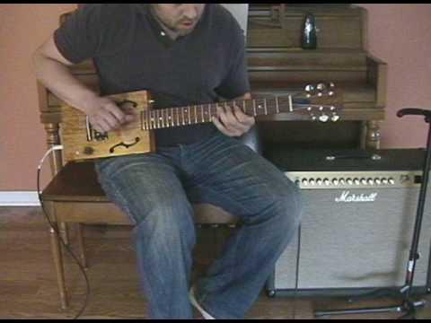 "Cigar Box Guitar Demo ""Key to the Highway"""