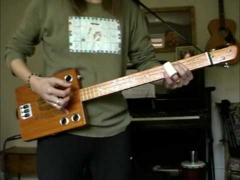 Red Dog 3 String Cigar Box Guitar Test.mpg