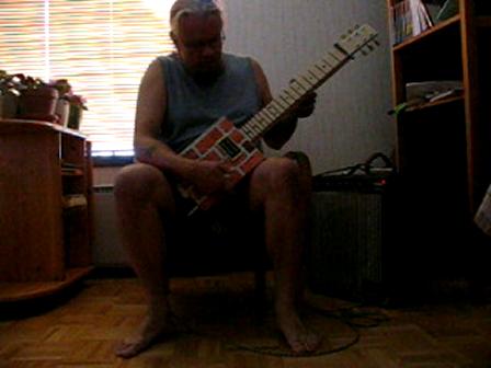 First build box guitar