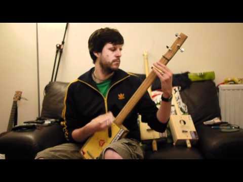 3-string Cigar Box Guitar Demo