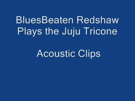 BluesBeaten Redshaw playing the Juju Tricone - Acoustic