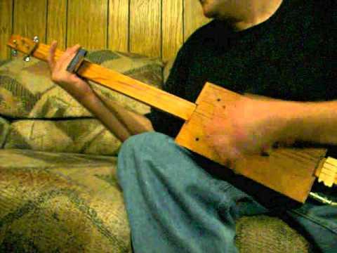 3 String Cigar Box Guitar - The Living Room Session Blues - Mark Stowe Fretless Slide