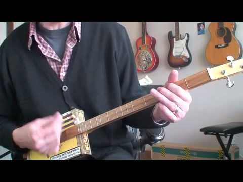 Wildwood Flower - Daddy Long Les on the Cigar Box Guitar