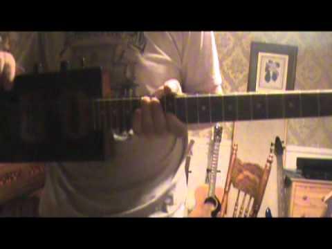 Cigar Box Guitar-Six String Wing King