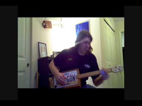 Sweet Beulah Land/Blues Jam - License Plate Guitar