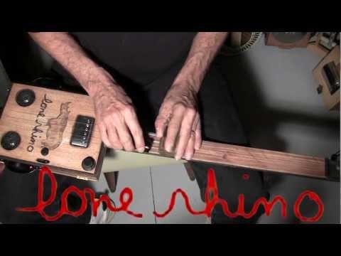 Lone Rhino - A Cigar Box Guitar