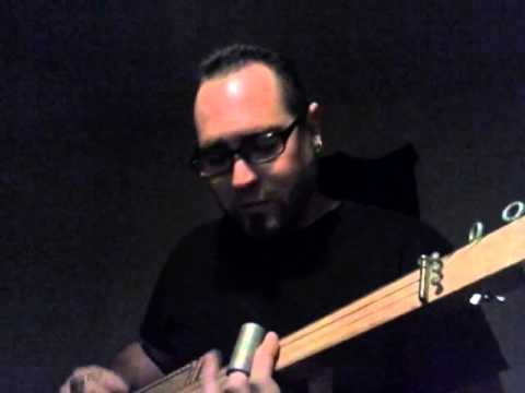 Alex Clare - Too Close - acoustic three string slide cigar box guitar cover