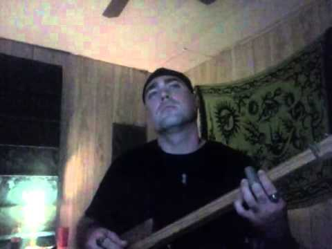 Labyrinth - Underground (Bowie) with three string cigar box guitar!