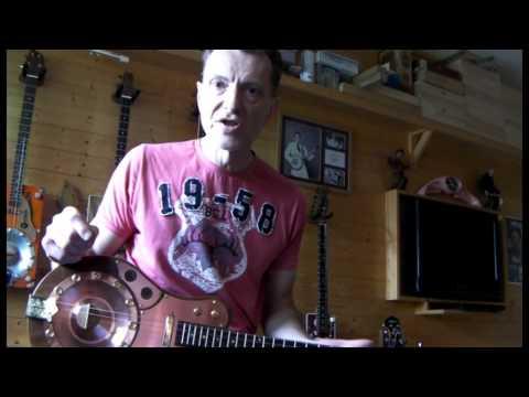 "COPPER CONE RESONATOR GUITAR ""THE COPPERHEAD"" CIGAR BOX INSPIRED BY JUNKSVILLE GUITARS"