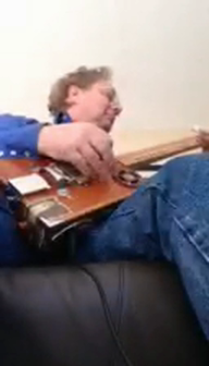 My dad playing my first build.