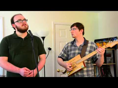 Crimson Catastrophe- Six Inches to the Left-Six String Cigar Box Demo