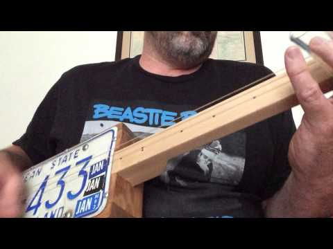 License Plate Guitar (unplugged)