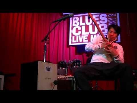 Bonny B. Solo de Cigar Box guitare avec une seule corde Blues in G - 2 strings