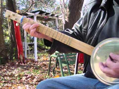 3 String Mutant Cookie Tin Banjo... Canjo