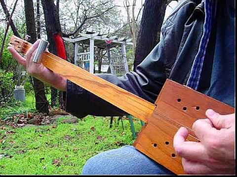 Homemade Fretless Cigar Box GUITAR 3 String CBG Slide Guitar Rhythm Blues Rock JAM ART