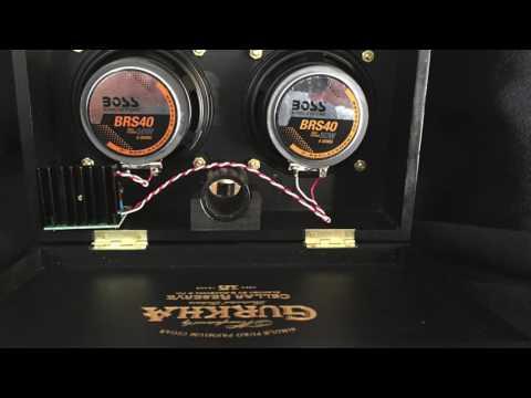 "Gurkha Cellar Reserve Cigar Box Speaker/Amplifier, aka ""Back in Black!"""