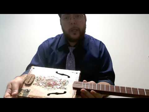 4-string Standard Tuning for Cigar Box Guitar - Violin CBG Demo