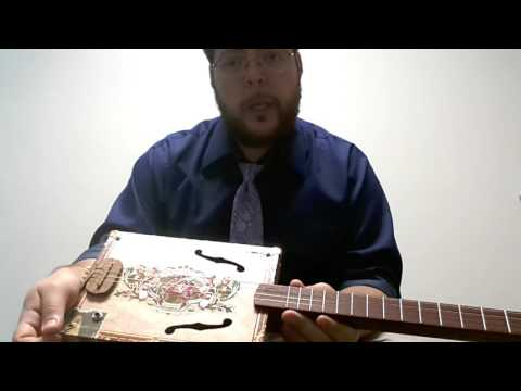 4-string Standard Tuning for Cigar Box Guitar - Violin CBG Demo