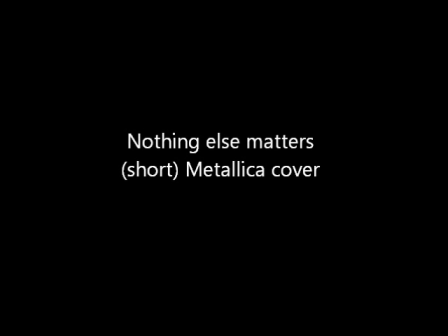 nothing-else-matters little cover