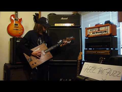 Hubcap John's Cigar Box Guitar played by David Simpson