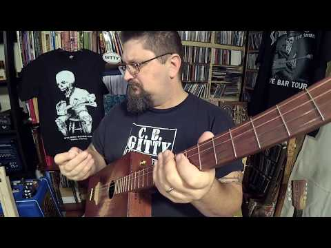 How to play an old timey cigar box guitar riff