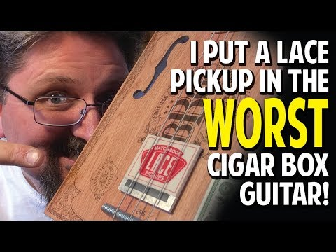 GEAR REVIEW:  I put a Lace Matchbook pickup in the WORST cigar box guitar!