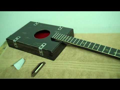 Old School Cool - 1930's Retro Style Cigar Box Guitar & Homemade Parts