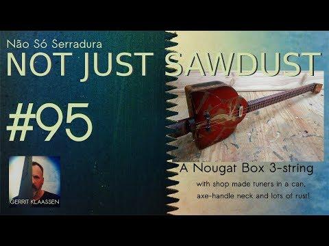 A Nougat Box 3 string guitar