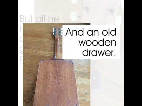 Wooden Drawer Guitar - Antique