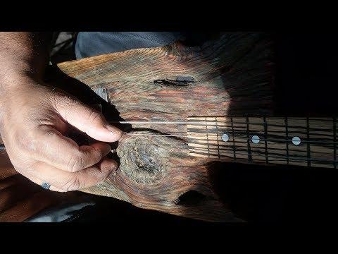 Three String Saginaw River Driftwood Guitars