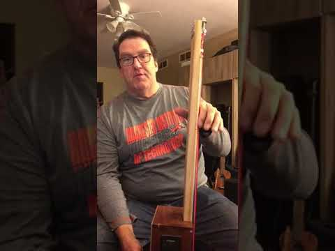 Cigar box bass guitar