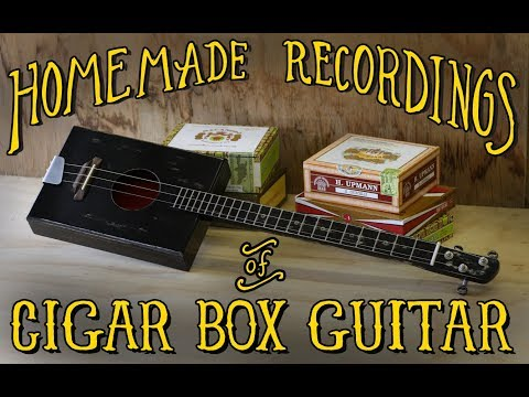 3 string  Lo-Fi recording of cigar box guitar -