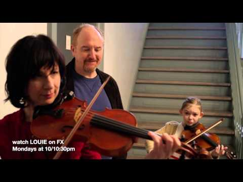 the Violin scene from ep 6 season 4 of LOUIE on FX 2 new eps every Monday at 10pm set