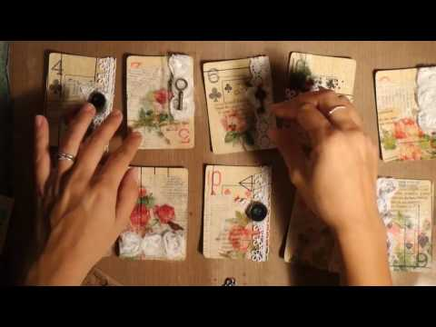 Altered Playing Cards Process/Making journaling cards