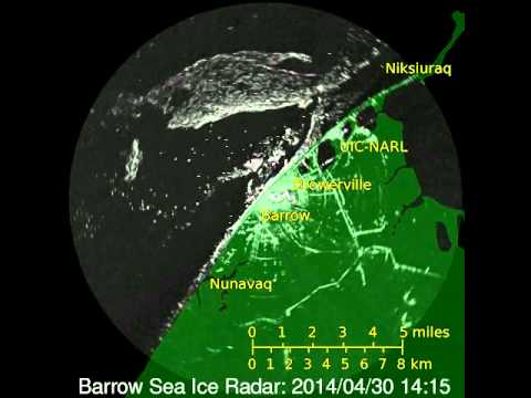 Sea ice break up event at Barrow, AK 4/29